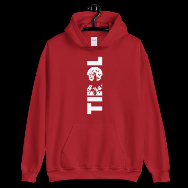 Tirol Schriftzug Adler Wappen Hoodie Pullover Rot