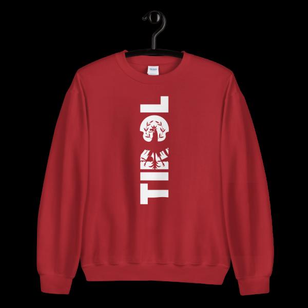 Tirol Schriftzug Adler Wappen Sweatshirt Pullover Rot