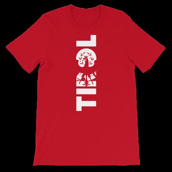 Tirol Schriftzug Adler Wappen T-Shirt Rot