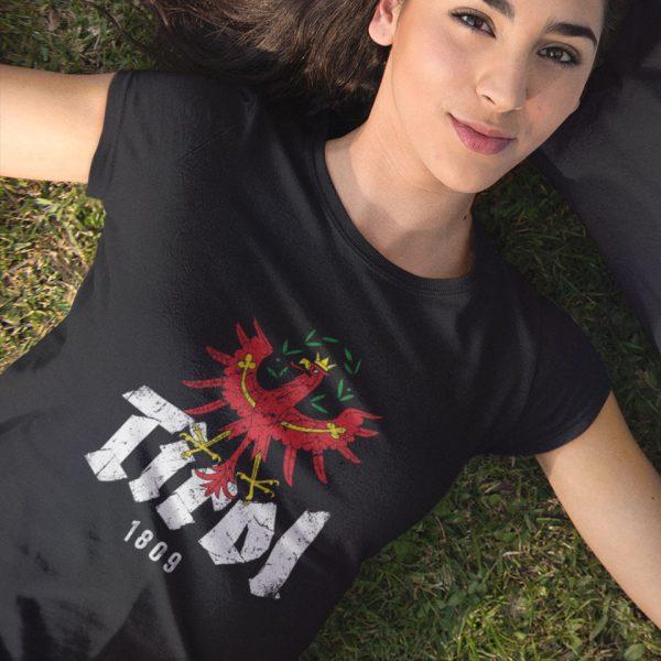 Tirol 1809 Schriftzug Adler Wappen T-Shirt