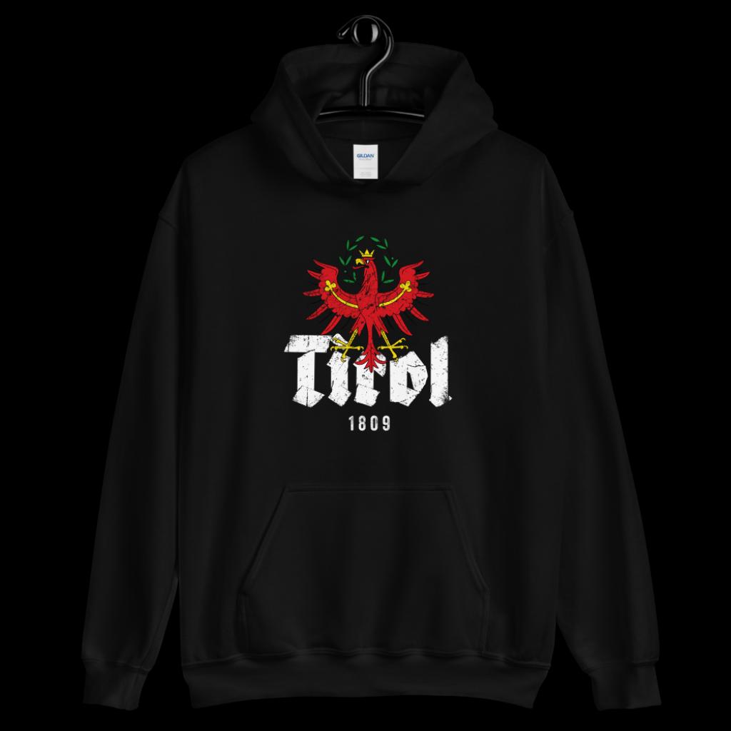 Tirol 1809 Schriftzug Adler Hoodie