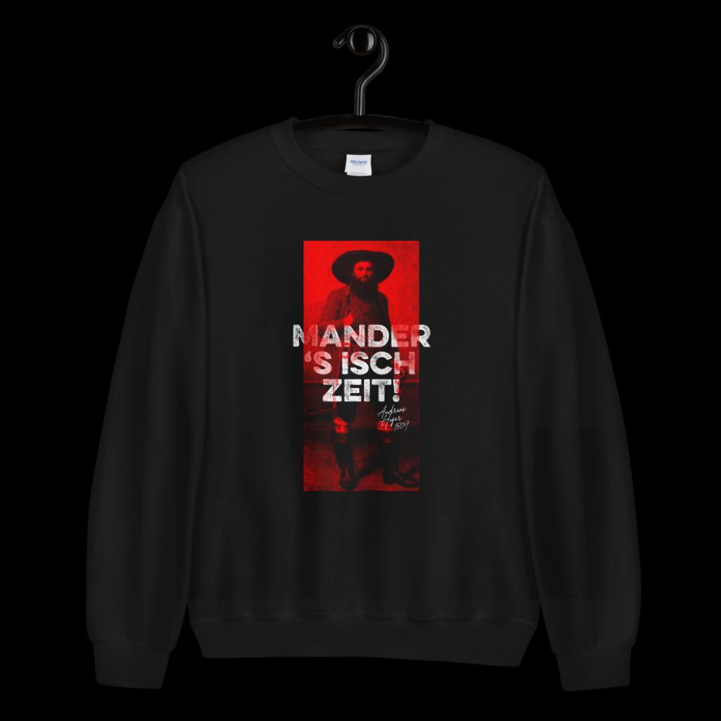Tirol Mander s isch Zeit Andreas Hofer Sweatshirt Pullover